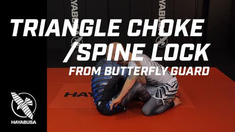 Ground Fight Series - Triangle Choke / Spine Lock from Butterfly Guard - No-Gi, Jiu Jitsu, Grappling