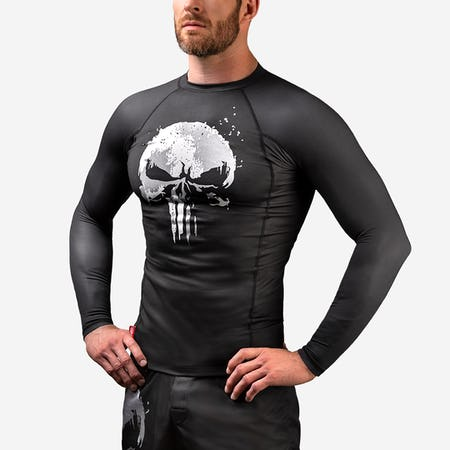 The Punisher Long Sleeve Rash Guard